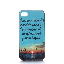 Wholesale Beautiful Seaside Sunset Design Hard Plastic Mobile Phone Case Cover For iPhone S S C