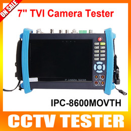 Wholesale 7 Inch Touch Screen CCTV Tester Multifunction IP Analog TVI Camera CCTV Tester Video Record Utp Cable Scan Test Visual Fault Locator