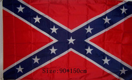 Wholesale USA Confederate Rebel Civil War Flag National Polyester Flag Banner Two Sides Printed Flag X3FT D by DHL