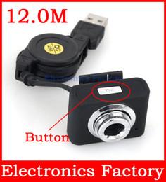 Wholesale MINI Intelligent USB M LED Retractable Cable Clip Web Webcam Camera For PC Computer Laptop With Button Off