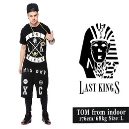 Wholesale 2015 hot selling Europe and the United States hip hop cotton T shirt LAST new pharaoh KINGS cross area fashion t shirt for men