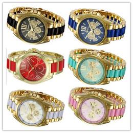 Wholesale 2015 Mens Quartz Full Steel Watch Women Luxury Mechanical Automatic Watches Casual Dress Ladies Wrist Watch Golden Dial Alloy Watch