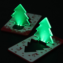 Led Card Christmas Tree LED Night Light Led Card Light Children Luminous Toys Friends Christmas Gifts Ornament Adornment
