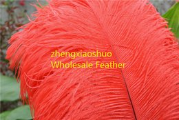 wholesale 100pcs lot 12-14inch Ostrich Feather Plumes red for Wedding centerpiece wedding decor party event supplies