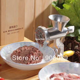 Wholesale cheap Deluxe Cast Iron Manual Meat Grinder Mincer Table Hand Crank Sausage Stuffer
