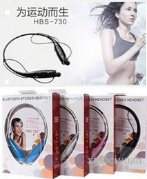 Wholesale Cheapest Universal Bluetooth Headset - 2015 Cheap New arrival HBS 730 Wireless Stereo Headset HBS-730 Bluetooth Earphone Music Sport headphone For iPhone Samsung DHL Free Shipping