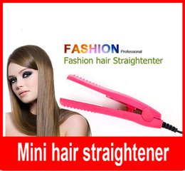 mini portable professional car plug hair styling straightener flat iron Ceramic Plates for Traveling Camping