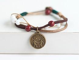 zodiac signs charm Bracelet Jewelry Wholesale Bracelet For girls And Women Fashion Jewelry Free Shipping On Sale