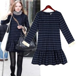 Womens clothing ladies fitted slim S-XXL long sleeve plaid grid ruffles mini dress Formal Prom Cocktail Ball Evening Party Dress 8916