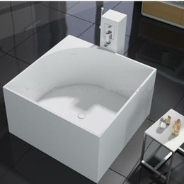 Wholesale FREE STANDING BATH TUB STONE SOLID SURFACE True Solid Surface Soaking Tub