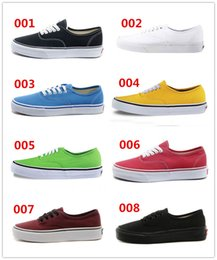 Wholesale 8 Colors Fashion classic brand canvas flats women men shoes off lady the wall sneakers femininos Sapatos design unisex van Zapatos