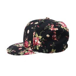 Wholesale-Brand new Hot Sale Floral Baseball Cap Women Summer Snapback Caps Sun Adjustable casquette Hats 2016