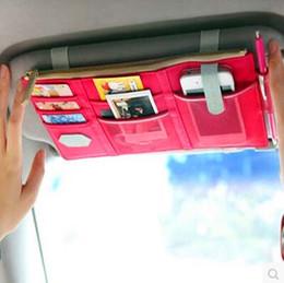 Descuento grande multifuncional Accesorios coche Visera bolsa de almacenamiento de clasificación Bolsas Organizador de viajes Bolsa para el teléfono y la tarjeta # 71545 cheap car travel accessories desde accesorios de viaje coche proveedores