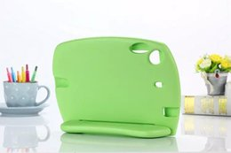 Wholesale Baby Safe EVA Foam Handle Stand Case For ipad mini Portable Shockproof Best Qualtiy Soft Handle Blue green red colors