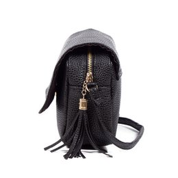 Wholesale Cheap Wholesale Fashion Handbag - Wholesale-Cheap Messenger Bags Fringe Handbags Women Fashion Small Leather Bag Korean Style Crossbody Long Strap Designer Square Cases