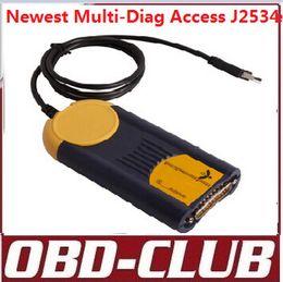 Wholesale High Quality multi diag access j2534 interfacePass Thru OBD2 Device V2011 multi di g access j2534 pass thru obd2 DHL Free
