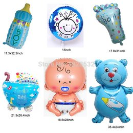 Wholesale New 6pcs Set Boys Baby Shower Decorations Foil Balloons Baby  Shower Helium Balls Boys