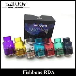 Wholesale Newest Fishbone RDA Clone mm Rebuidable Atomizer Glass Vaporizer DIY Copper Contact Bottom Airflow Control By Tobeco DHL Free