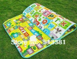 Wholesale-Free Shipping 20pcs lot Baby Play Gym Mats(1.8M*1.2M*1CM,Double side) Soft Baby Crawl Mats Family Picnic Mats