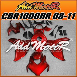 Wholesale Addmotor Injection Mold Aftermarket Fairings Fit Honda CBR1000RR CBR RR Body Kit Red H1826 Five Free Gifts
