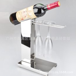 [up] stainless steel wine rack creative European wine rack wine rack hanging upside down wine cup rack