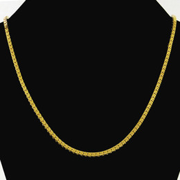 Wholesale-Heavy MENS 18K SOLID GOLD FILLED FINISH THICK MIAMI CUBAN LINK NECKLACE CHAIN JP051