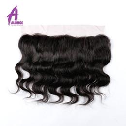 "Brazilian Virgin Hair Lace Frontal Closure 13x4"" Bleached Knots Virgin 12-20"" Body Wave Full Lace Frontal Brazilian Wavy Closure"