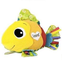 Lamaze Feel Me Fish cute clownfish massage particle ring paper cloth toys