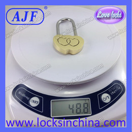 Wholesale AJF Double Hearts Wishing Brass Padlock Symbol Love Promotion