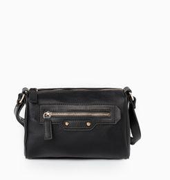 Wholesale AD397 Modern Fashion solid zipper rivets patchwork Women lady girl messenger shoulder crossbody bag MG black city bag