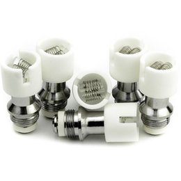 Dual Quartz Rod Ceramic Coil for Wax Glass Globe Atomizers Skull Vaporizer Straight Glass Vape Pens - 510 Thread   DHL Free Shipping