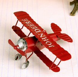 Wholesale ZAKKA Hot selling Iron Distress Crafts Vintage Twin Blades Model Plane Arts and Crafts Home Docor Home Garden DS001
