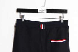 Wholesale ss brand new men women thom Breathable mesh casual fashion Beam pants trousers brown sweatpants black gray Size M L XL TBPAN