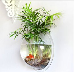 Wholesale Hot Sale CM Fashion Creative Acrylic Fish Tank Wall Hanging Transparent Plexiglass Aquarium