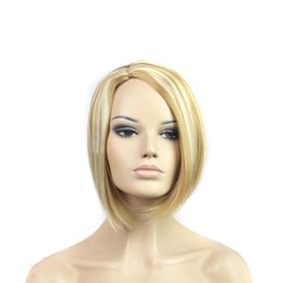 Cheap Bob Hairstyle Fashion Synthetic Hair Wig Straight Smooth Touch Soft Wig Synthetic Ladys' Hair Wig Wigs