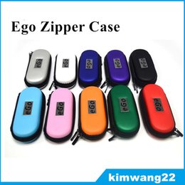 eGo Zipper Carrying leather Case for ego Electronic Cigarette kit Small Size Middle size Big Size Various Colors High Quality DHL Fast Free