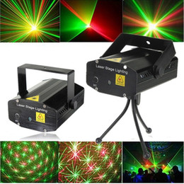 Acheter en ligne Mini lumières de vacances-Laser Stage Light Vente de 150mW Mini GreenRed Laser DJ Party barre lumineuse LED Laser Stage Lighting