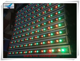 20 pieces a lot waterproof led flooding stage light led bar light 30x3w rgb single color mixing outdoor led wall washer
