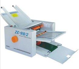 Wholesale Brand New Automatic Paper folding machine Paper Folder Machine ZE B Fold plate