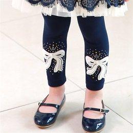 Wholesale Bowknot Pure Cotton Leggings Baby Cloth Cloth Winter Protection Kids Princess Trouser Clothes Children Clothing Hot Sale