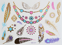 Wholesale C18 High Quality Colored And Gold Flash Tattoo Waterproof Temporary Tattoo Presented And Produced By Our Store Only
