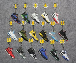 Wholesale AIR JORDAN Novelty Fashion Basketball Shoes Key Chain Rings Charm Sneakers Keyrings Keychains Hanging Accessories