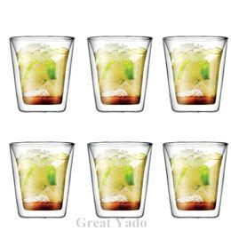 Wholesale Set of Original Bodum Assam Double Wall glass cup mug shot glass wine glasses for tea espresso coffee ml
