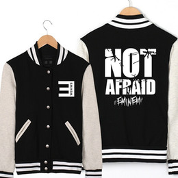 Fall-Eminem Jacket Men Baseball Jackets 2016 New Fashion Letters Printed Fleece Jackets Free Shipping