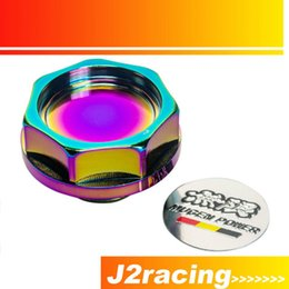 Wholesale J2 RACING STORE NEO CHROME MUGEN POWER EMBLEM TWIST ON ENGINE OIL FILLER CAP BADGE FOR HONDA ACURA PQY6316CR