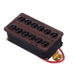 Guitare double goulots en Ligne-Bonne Guitar Qualité Neck Humbucker Double Coil Ramassage Set Rosewood capot supérieur avec les vis et les ressorts durables I1288