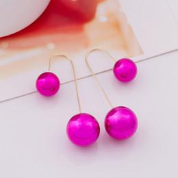Bohemian Artificial Pearl Ball Earrings Dangle Chandelier Earrings For Women Lady Jewelry Mix Colors NEW Arrival