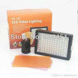 Professioanl caméra lumière HD-126 LED Vidéo lumière pour caméra DSLR caméscope numérique canon nikon sony A3 à partir de conduit caméra lumière 126 fournisseurs