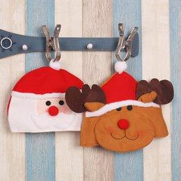 Armadura usada en Línea-Uso repetido no tejidos de Navidad Santa Claus reno adultos sombreros Especial infantiles reno gorras Navidad decoración Faabric sombreros Reciclaje sombreros