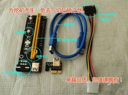 Wholesale 10pcs PCIe PCI E PCI Express Riser Card x to x USB Data Cable SATA to Pin IDE Molex Power Supply for BTC Miner Machine RIG
